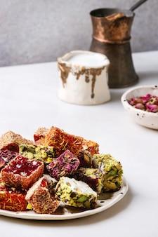 Variété de délices turcs