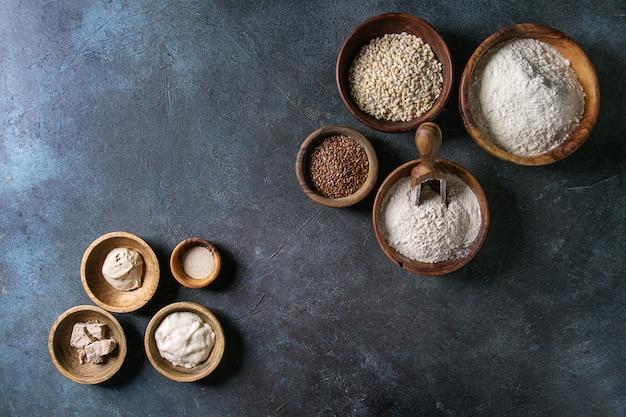 Variété de farine et de grains