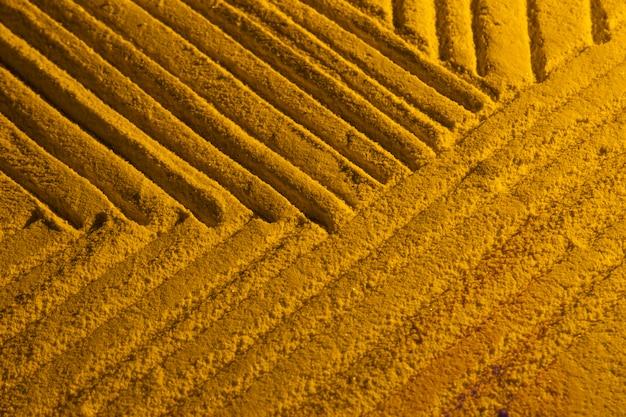 Variété de formes de sable vue de dessus