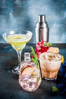 Variété froid automne hiver automne cocktails