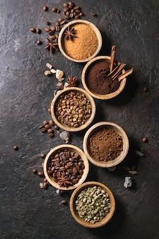 Variété de grains de café
