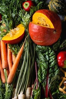 Variété de légumes de la récolte d'automne