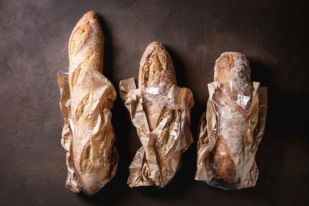 Variété de pain artisanal