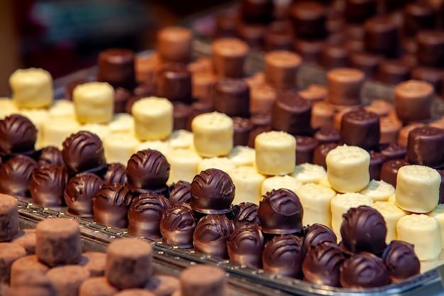 Variété de petits chocolats