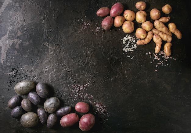 Variété de pommes de terre crues