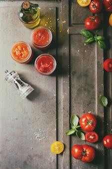 Variété de sauces tomates