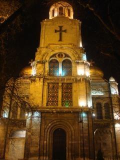 Varna cathédrale de nuit
