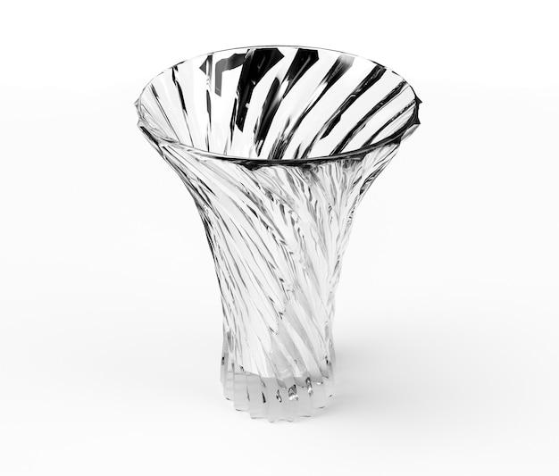 Vase en céramique isolé sur fond blanc, rendu 3d