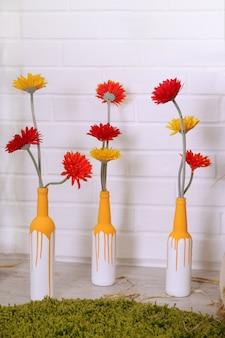 Vases avec gerbera