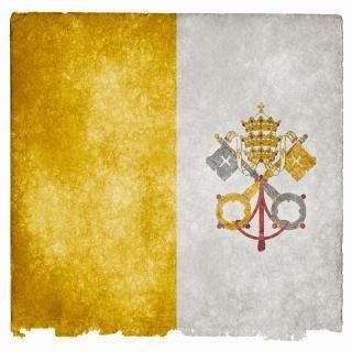 Vatican flag grunge rayé