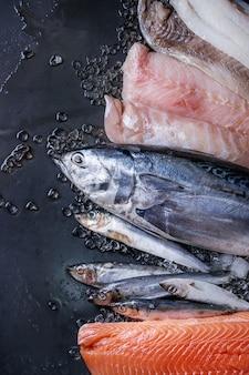 Vatiery de poisson frais cru