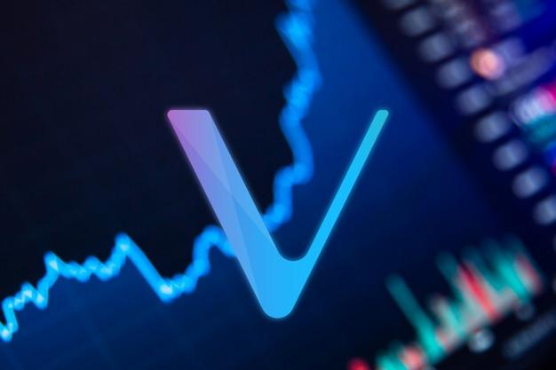 Vechain vet cryptocurrency graphique de croissance des pièces vechain sur le graphique d'échange
