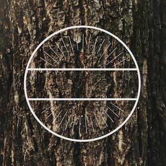 Vecteur de bannière d'insigne rond de cercle