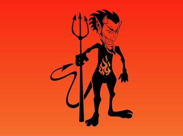 Vecteur de caractère de diable comique de bande dessinée