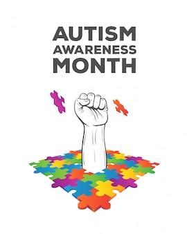 Vecteur de conception de sensibilisation à l'autisme