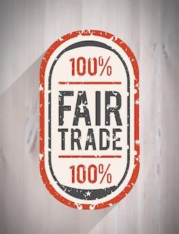 Vecteur du commerce équitable
