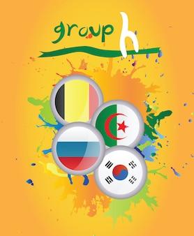 Vecteur groupe h coupe du monde