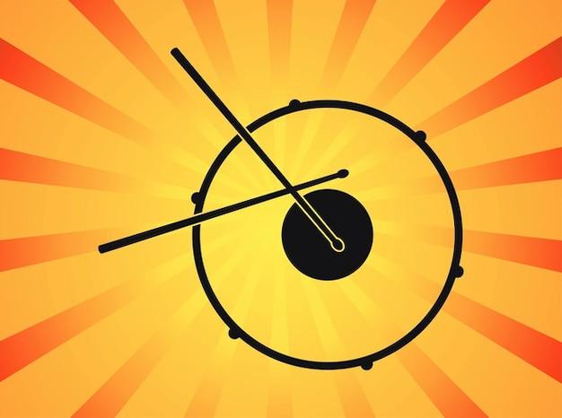 Vecteur instrument de musique stylisée