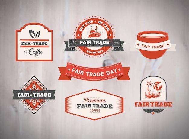 Vecteur de la journée du commerce équitable