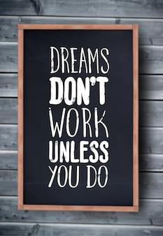 Vecteur de motivation avec texte de rêve