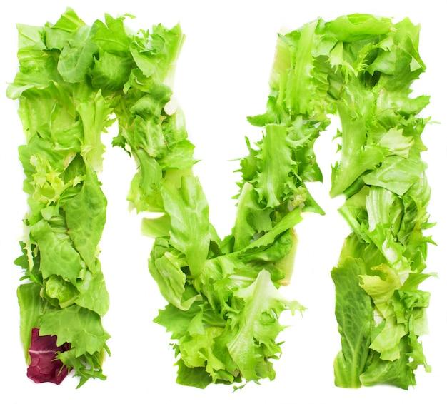 Végétarienne lettre m