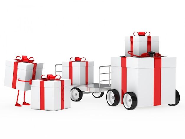 Véhicule avec des cadeaux d'anniversaire