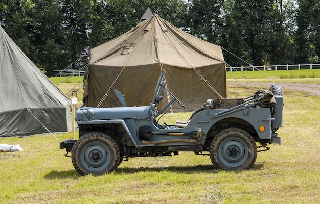 Véhicule jeep militaire américain de la seconde guerre mondiale