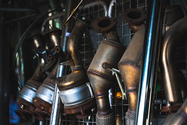 Véhicule de tuyau d'échappement de voiture automatique, pollution par les gaz de fumée, transport dans le moteur automobile de transport, environnement de contrôle de l'atmosphère de l'air, émission sale du trafic routier