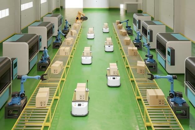 Véhicules guidés automatisés (agv).