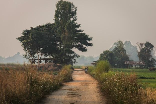 Vélo d'agriculteur dans la campagne