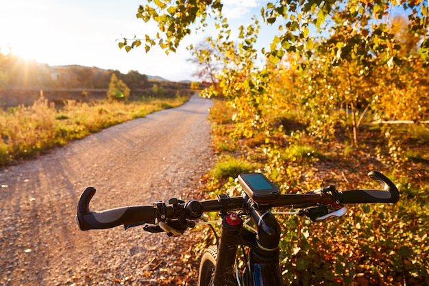 Vélo au coucher du soleil du parc parque de turia de valence