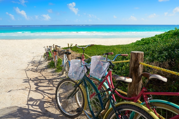 Vélos de plage des caraïbes tulum riviera maya