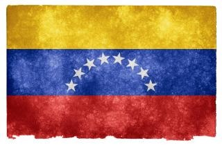 Venezuela flag grunge rayures