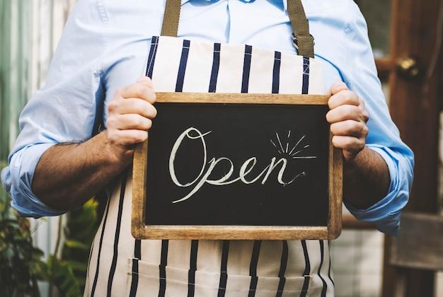 Vente au détail magasin vente commerce ouvert