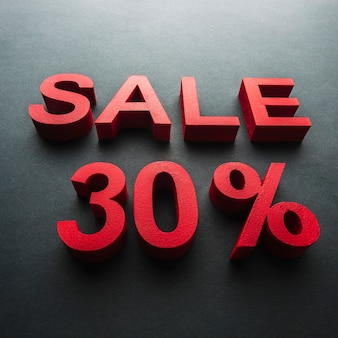 Vente avec trente pour cent de réduction