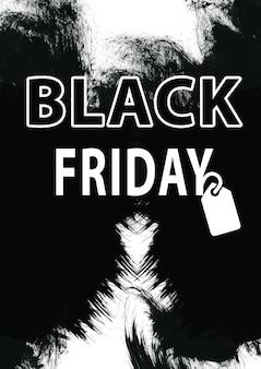 Vente de vendredi noir - concept de magasinage de vacances