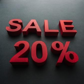 Vente avec vingt pour cent de réduction