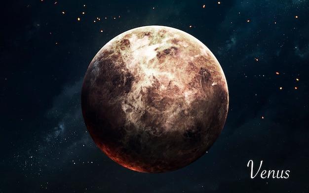 Vénus. planètes de qualité impressionnante du système solaire. image scientifique parfaite en 5k. éléments de cette image fournis par la nasa