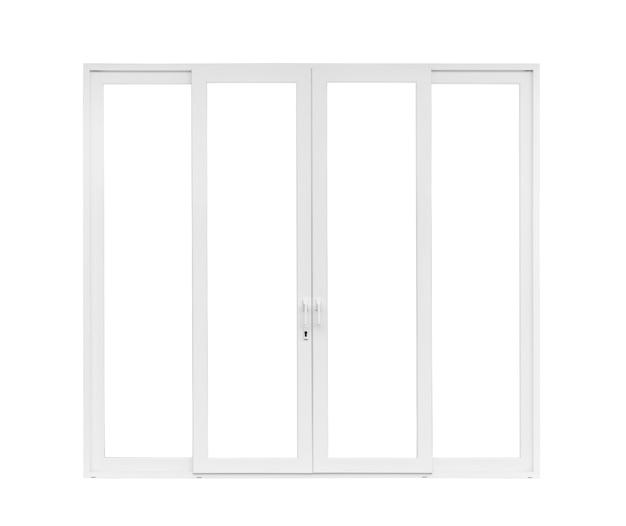 Véritable cadre de fenêtre de porte de maison moderne isolé
