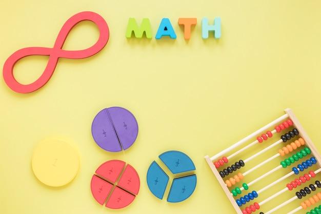 Véritable symbole infini de la science avec abaque et fractions