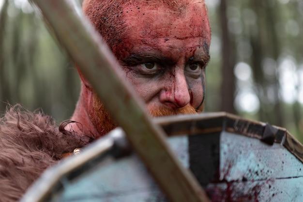 Véritable viking à la campagne