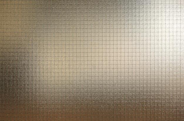 Verre abstrait avec fond de texture de grille métallique