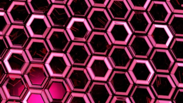 Verre abstrait rouge fond rendu 3d