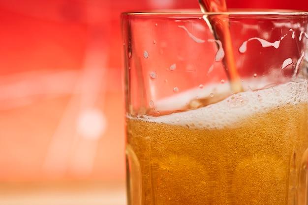 Un verre de bière artisanale