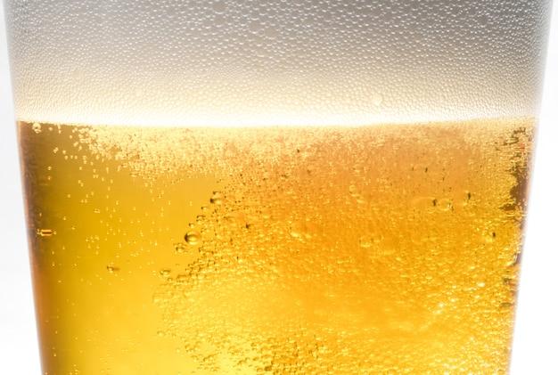 Verre à bière doré