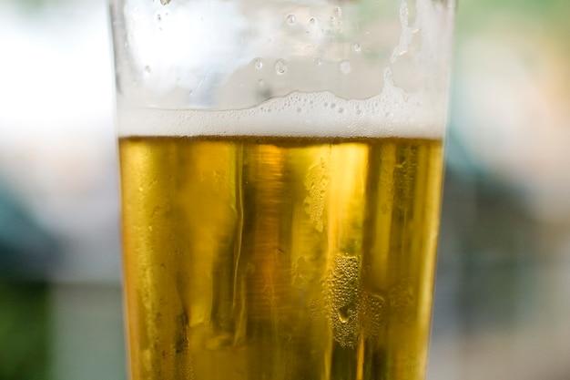 Verre de bière fraîche