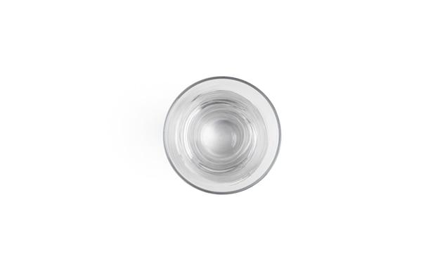 Verre à bière isolé sur blanc.
