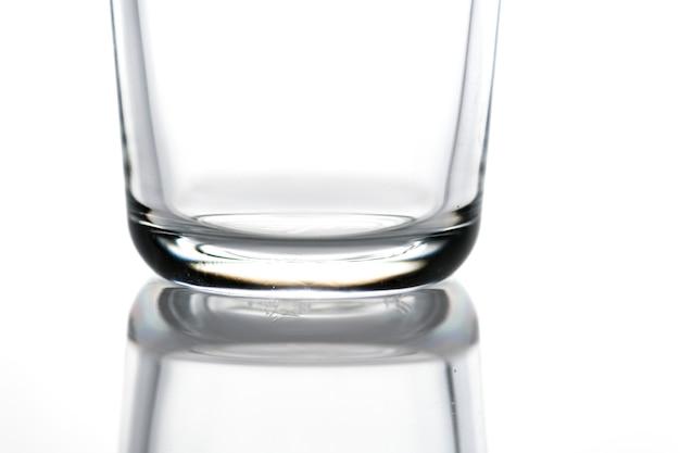 Verre à boire vide photo macro