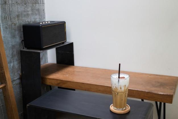 Verre de café au lait glacé