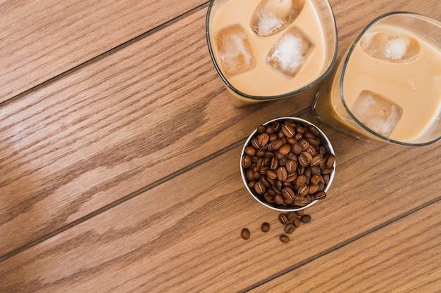 Verre de café glacé